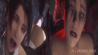 Demonio muy grande revienta a chica hentai